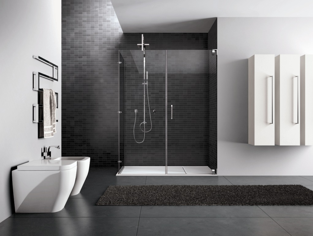 Box doccia infissi porte e serramenti tecnoalluminio for Box doccia in muratura foto