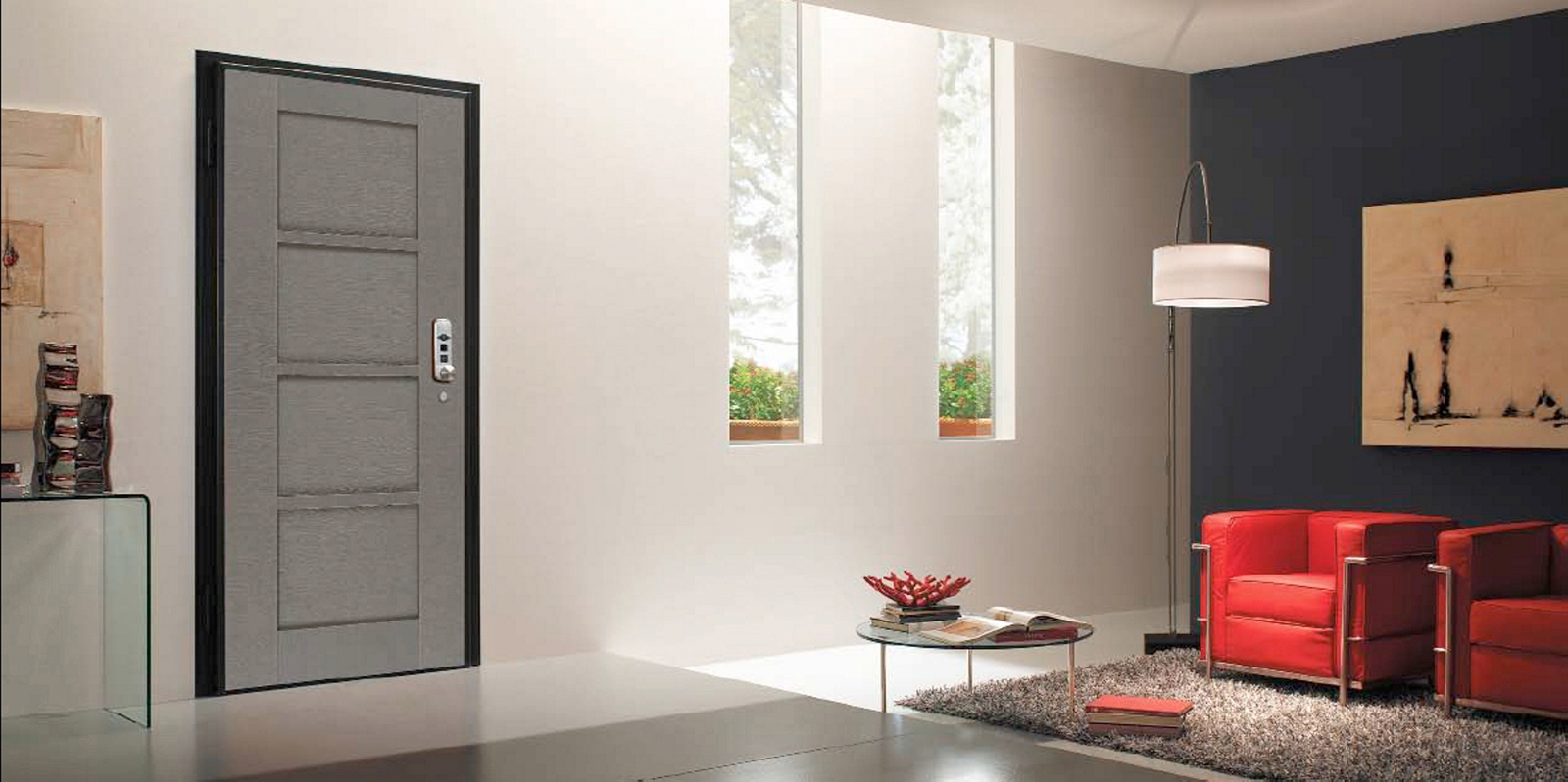 Porte blindate infissi porte e serramenti tecnoalluminio - Carta da parati per porte leroy merlin ...